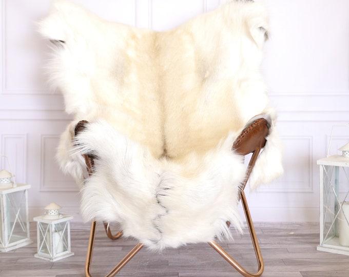 Creamy White Reindeer Hide | Reindeer Rug | Reindeer Skin | Throw Large  - Scandinavian Style #22RE7