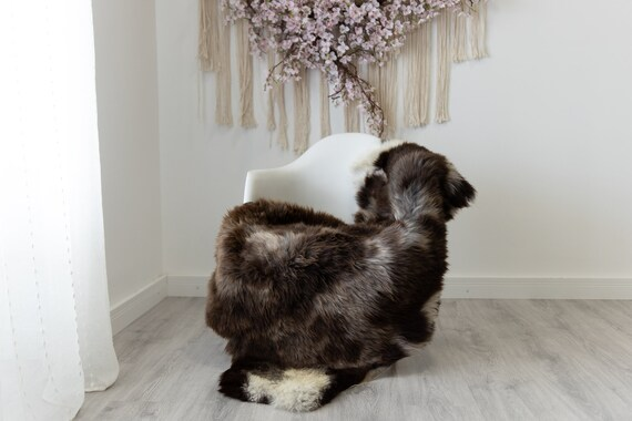 Real Sheepskin Rug Shaggy Rug Chair Cover Scandinavian Home Sheepskin Throw Sheep Skin White Brown Sheepskin Home Decor Rugs #herdwik206