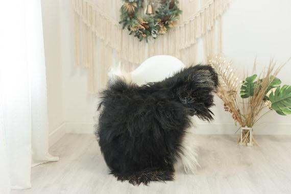 Real Icelandic Sheepskin Rug Scandinavian Decor Sofa Sheepskin throw Chair Cover Natural Sheep Skin Rugs Black Brown #Iceland117