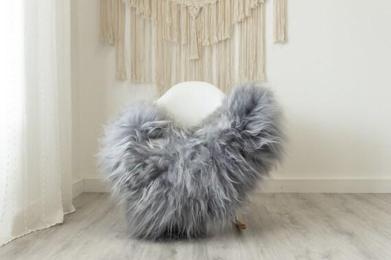 Real Icelandic Sheepskin Rug Scandinavian Home Decor Sofa Sheepskin throw Chair Cover Natural Sheep Skin Rugs Gray #Iceland498
