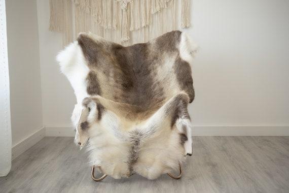 EXTRA LARGE Reindeer Hide | Reindeer Rug | Reindeer Skin | Throw XXL  - Scandinavian Style Christmas Decor Brown White Hide #Reindeer77