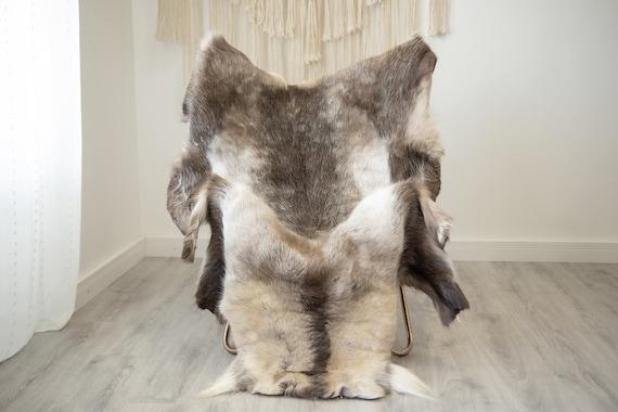 EXTRA LARGE Reindeer Hide | Reindeer Rug | Reindeer Skin | Throw XXL  - Scandinavian Style Christmas Decor Brown White Hide #Reindeer64