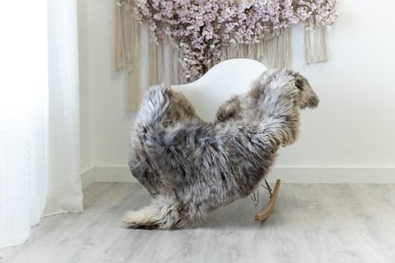 Real Sheepskin Rug Shaggy Rug Chair Cover Scandinavian Home Sheepskin Throw Sheep Skin Ivory Brown Sheepskin Home Decor Rugs #herdwik129