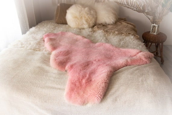 Real Sheepskin Rug Shaggy Rug Chair Cover Sheepskin Throw Sheep Skin Pink Sheepskin Home Decor Rugs #KWAHER9