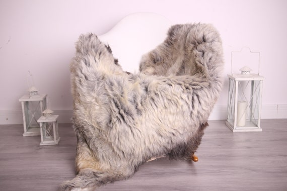 Real Sheepskin Rug Shaggy Rug Chair Cover Sheepskin Throw Sheep Skin Gray Brown Sheepskin Home Decor Rugs #9her4