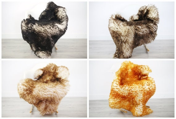 Real Sheepskin Rug Scandinavian Decor Sofa Sheepskin throw Chair Cover Natural Sheep Skin Rugs Brown Black Dyed Rug Blanket Fur Rug