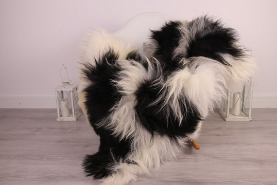 Real Icelandic Sheepskin Rug Scandinavian Decor Sofa Sheepskin throw Chair Cover Natural Sheep Skin Rugs Black White Blanket Fur Rug #Am5