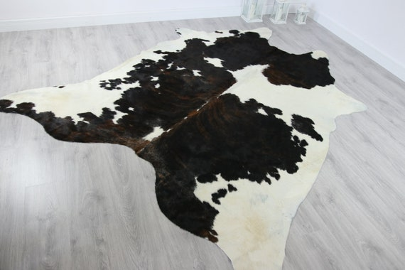 Premium Quality Giant XXXL Cowhide | Real Cowhide Rug | Black Brown White Cowhide | #COW13
