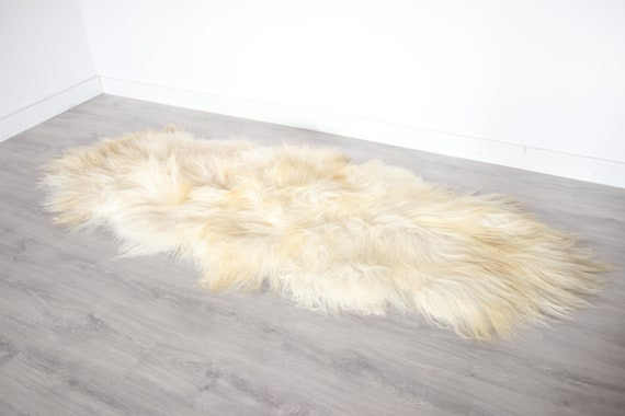 Real Icelandic Double Sheepskin Rug Scandinavian Decor Sofa Sheepskin throw Chair Cover Natural sheep skin rugs blanket fur rug #Bezszy3