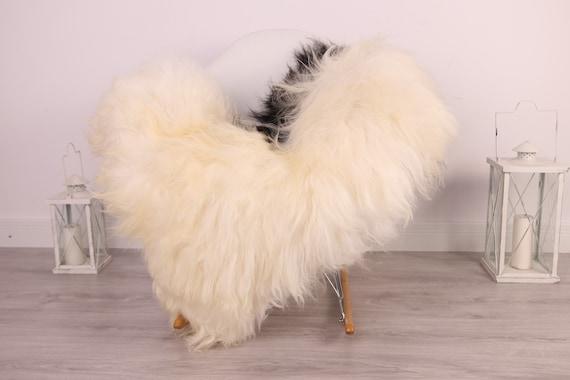 Real Icelandic Sheepskin Rug Scandinavian Decor Sofa Sheepskin throw Chair Cover Natural Sheep Skin Rugs Black White Blanket Fur Rug #Am14
