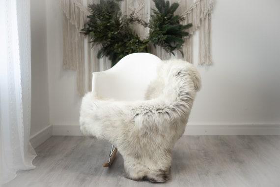 Real Sheepskin Rug Shaggy Rug Chair Cover Scandinavian Home Sheepskin Throw Sheep Skin Brown White Sheepskin Home Decor Rugs #herdwik365