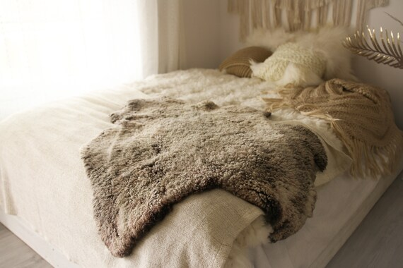 Real Sheepskin Rug Shaggy Rug Chair Cover Sheepskin Throw Sheep Skin Gray Brown Sheepskin Scandinavian Home Decor Rugs #Roz5