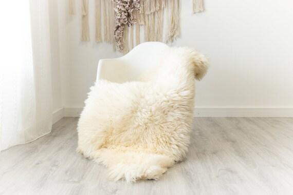 Real Sheepskin Merino Rug Shaggy Rug Chair Cover Sheepskin Throw Sheep Skin Sheepskin Home Decor Rugs Blanket Creamy White #herdwik98