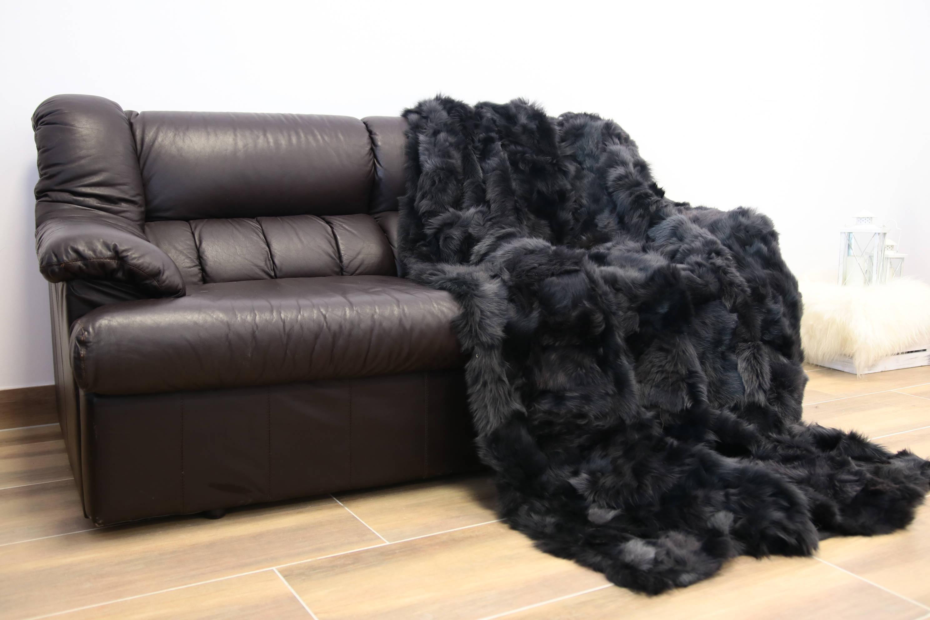 Exclusive Real Sheepskin Toscana Blanket Throw, Fur Sofa Throw,  Scandinavian Decoration, Throws For Sofa, Sofa Throws, Luxury Throws