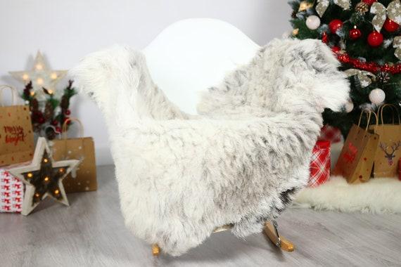 Organic Sheepskin Rug, Real Sheepskin Rug, Gute Sheepskin, Gray Sheepskin Rug Christmas Home #GUTCHRIS12