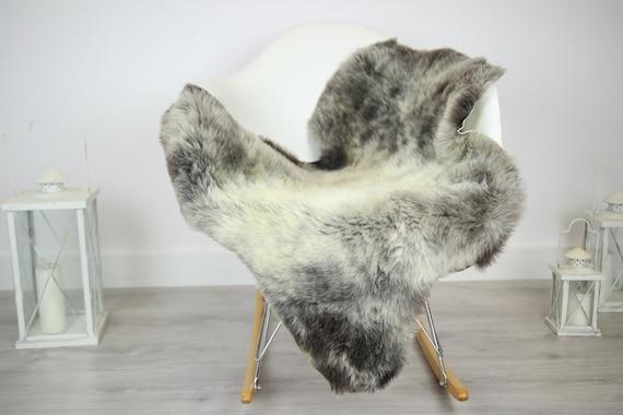 Sheepskin Rug | Real Sheepskin Rug | Shaggy Rug | Chair Cover | Sheepskin Throw | Gray Sheepskin | Home Decor | #JAC24
