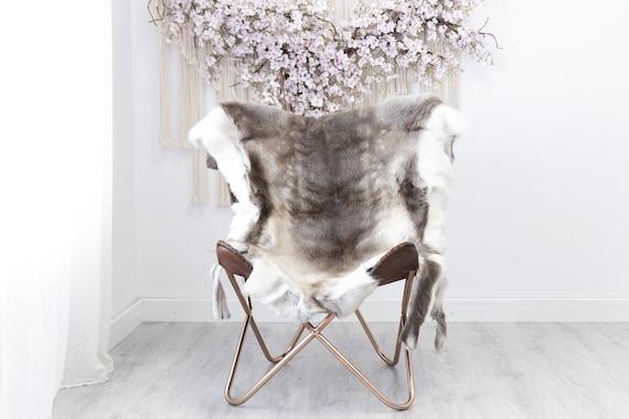 Reindeer Hide | Reindeer Rug | Reindeer Skin | Throw XXL EXTRA LARGE - Scandinavian Style Christmas Decor Brown White Hide #Reindeer40