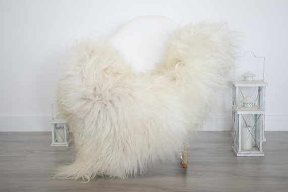 Real Icelandic Sheepskin Rug Scandinavian Decor Sofa Sheepskin throw Chair Cover Natural Sheep Skin Rugs Beige Blanket Fur Rug #isleb28