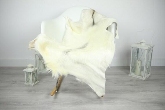 Natural real Goatskin rug, Goat Hide Goat Rug Ivory #Goat9