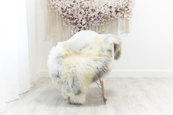 Real Sheepskin Merino Rug Shaggy Rug Chair Cover Sheepskin Throw Sheep Skin Sheepskin Home Decor Rugs Blanket Ivory Gray #herdwik178