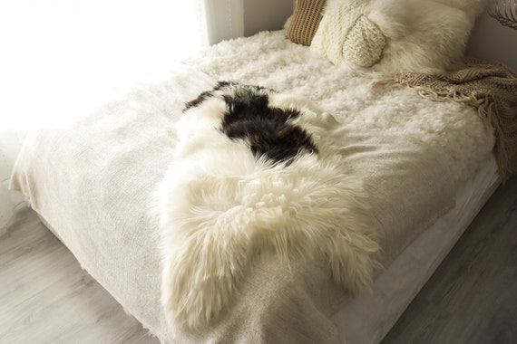 Real Icelandic Sheepskin Rug Scandinavian Decor Sofa Sheepskin throw Chair Cover Natural Sheep Skin Rugs White Brown Fur Rug #Islbeau25