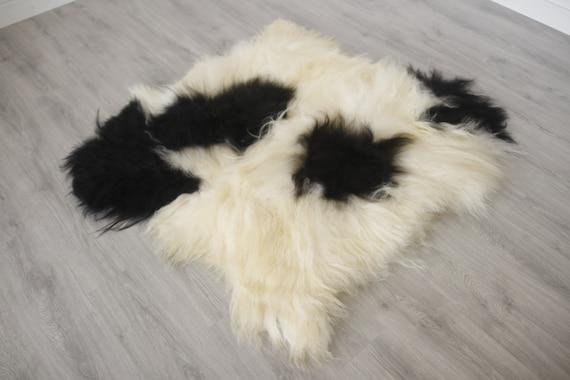 Real Icelandic Double Sheepskin Rug Scandinavian Decor Sofa Sheepskin throw Chair Cover Natural sheep skin rugs blanket fur rug #Islszyt5