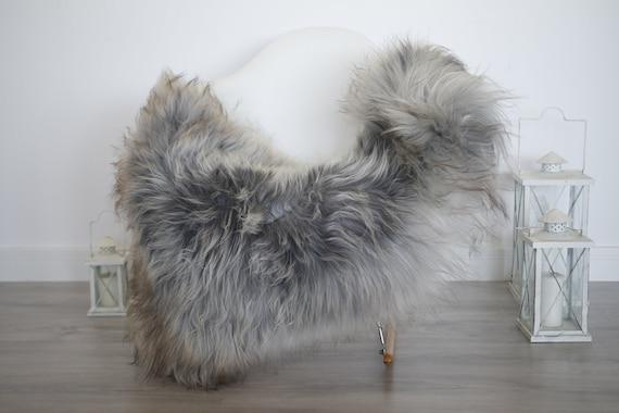 Real Icelandic Sheepskin Rug Scandinavian Decor Sofa Sheepskin throw Chair Cover Natural Sheep Skin Rugs Gray Blanket Fur Rug #isleb43