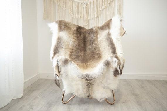 EXTRA LARGE Reindeer Hide | Reindeer Rug | Reindeer Skin | Throw XXL  - Scandinavian Style Christmas Decor Brown White Hide #Reindeer66