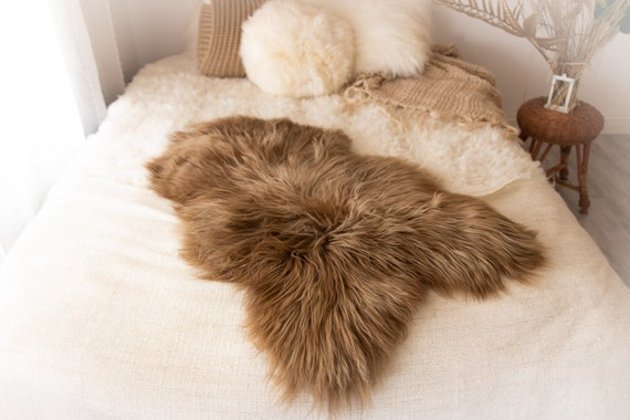 Real Icelandic Sheepskin Rug Scandinavian Decor Sofa Sheepskin throw Chair Cover Natural Sheep Skin Rugs Blonde Blanket Fur Rug #KWAISL8