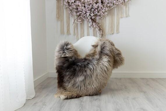 Real Sheepskin Rug Shaggy Rug Chair Cover Scandinavian Home Sheepskin Throw Sheep Skin Gray Brown Sheepskin Home Decor Rugs #herdwik216