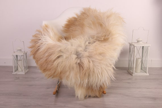 Real Icelandic Sheepskin Rug Scandinavian Decor Sofa Sheepskin throw Chair Cover Natural Sheep Skin Rugs Blonde Blanket Fur Rug #kefisl11