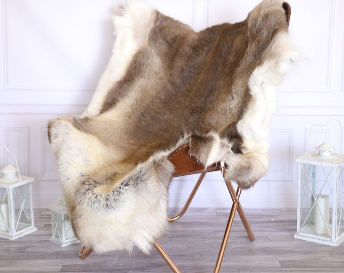 Reindeer Hide | Reindeer Rug | Reindeer Skin | Throw Large  -XXL EXTRA LARGE Scandinavian Style #22RE26