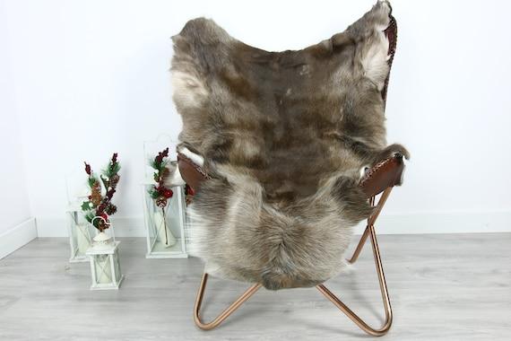 Reindeer Hide   Reindeer Rug   Reindeer Skin   Throw  - Scandinavian Style #GRE21 135x100   Christmas Decor  