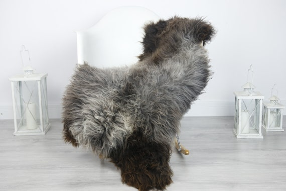 Real Sheepskin Rug Shaggy Rug Chair Cover Sheepskin Throw Sheep Skin Gray Sheepskin Home Decor Rugs #7her11