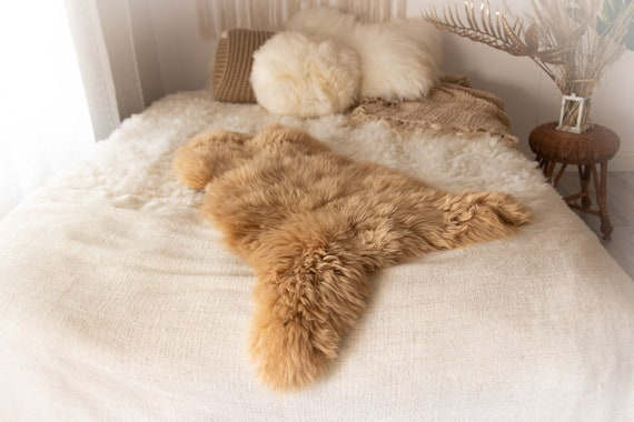 Real Sheepskin Rug Shaggy Rug Chair Cover Sheepskin Throw Sheep Skin Pale Pink Sheepskin Home Decor Rugs #KWAHER13