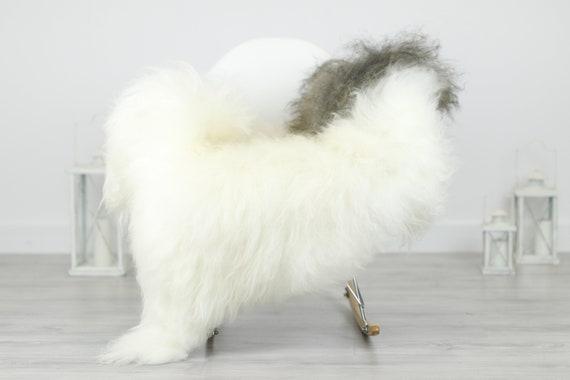 Real Icelandic Sheepskin Rug Scandinavian Decor Sofa Sheepskin throw Chair Cover Natural Sheep Skin Rugs Gray Blanket Fur Rug #Babisl19
