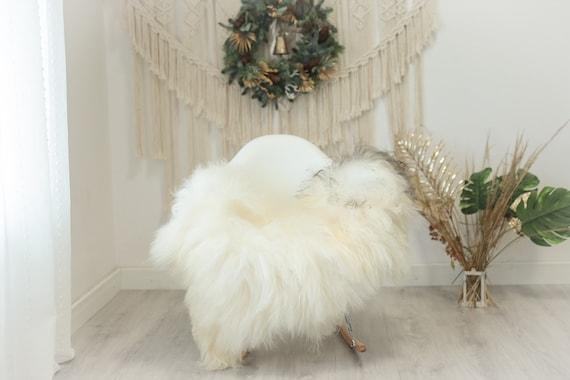 Real Icelandic Sheepskin Rug Scandinavian Decor Sofa Sheepskin throw Chair Cover Natural Sheep Skin Rugs Ivory Gray #Iceland108
