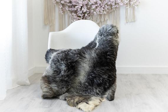 Real Sheepskin Rug Shaggy Rug Chair Cover Scandinavian Home Sheepskin Throw Sheep Skin Ivory Gray Sheepskin Home Decor Rugs #herdwik122