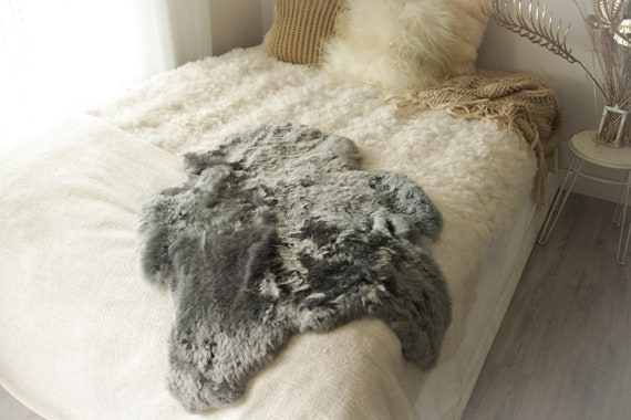 Real Sheepskin Rug Shaggy Rug Chair Cover Sheepskin Throw Sheep Skin Gray Sheepskin Home Decor Rugs #0Margot13