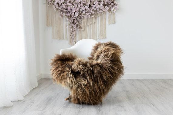 Real Icelandic Sheepskin Rug Scandinavian Home Decor Sofa Sheepskin throw Chair Cover Natural Sheep Skin Rugs Brown Chocolate #Iceland316