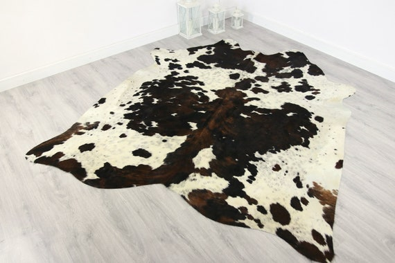 Premium Quality Giant XXXL Cowhide | Real Cowhide Rug | Gray Brown White Cowhide | #COW7