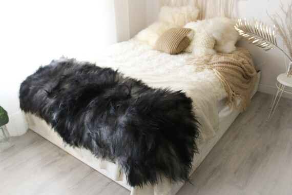Real Icelandic Double Sheepskin Rug Scandinavian Decor Sofa Sheepskin throw Chair Cover Natural sheep skin rugs blanket fur rug #Islszyt4