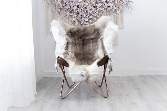Reindeer Hide | Reindeer Rug | Reindeer Skin | Throw  - Scandinavian Style Christmas Decor Brown White Hide #Reindeer47