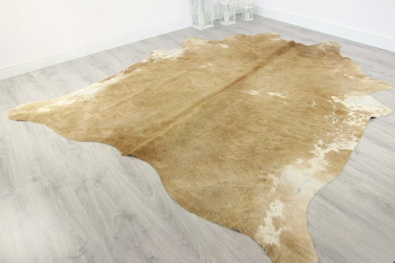Premium Quality Giant XXXL Cowhide | Real Cowhide Rug | Sand Cowhide | #COW9