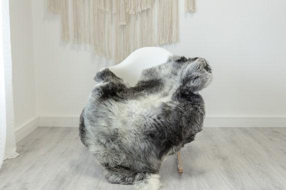 Real Sheepskin Rug Shaggy Rug Chair Cover Scandinavian Home Sheepskin Throw Sheep Skin White Gray Sheepskin Home Decor Rugs #Gut63