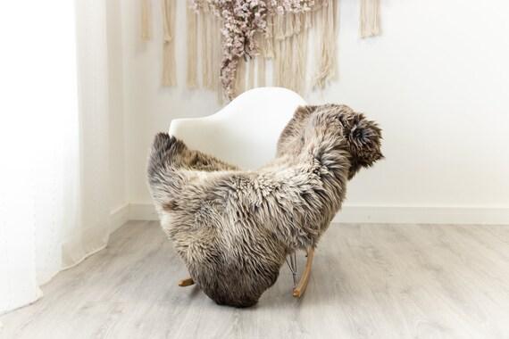 Real Sheepskin Merino Rug Shaggy Rug Chair Cover Sheepskin Throw Sheep Skin Sheepskin Home Decor Rugs Blanket Brown #herdwik91