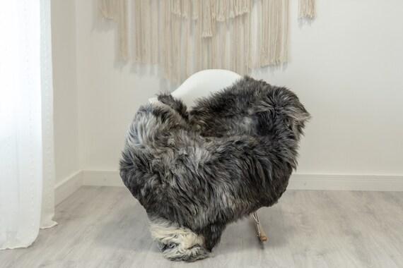 Real Sheepskin Rug Shaggy Rug Chair Cover Scandinavian Home Sheepskin Throw Sheep Skin Black Gray Sheepskin Home Decor Rugs #Gut77