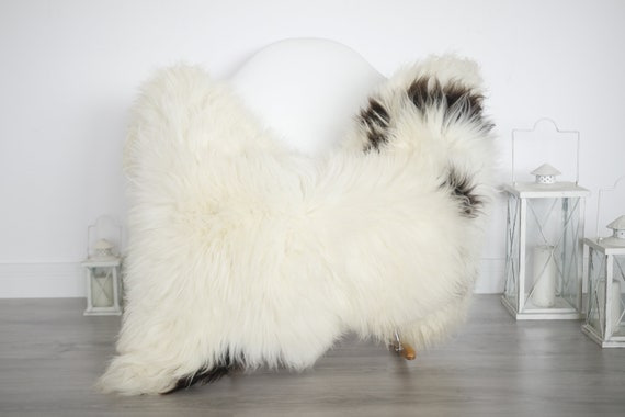 Real Sheepskin Rug Shaggy Rug Chair Cover Sheepskin Throw Sheep Skin White Brown Sheepskin Home Decor Rugs #6her14