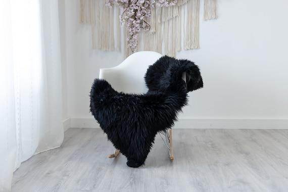 Real Sheepskin Rug Shaggy Rug Chair Cover Scandinavian Home Sheepskin Throw Sheep Skin Black Brown Sheepskin Home Decor Rugs #herdwik187