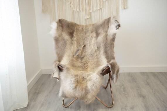 EXTRA LARGE Reindeer Hide | Reindeer Rug | Reindeer Skin | Throw XXL  - Scandinavian Style Christmas Decor Brown White Hide #Reindeer74